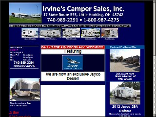 Camper Dealers In Ohio >> Irvine S Camper Sales 17 State Route 555 Little Hocking